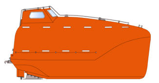Kjøp Totally Enclosed Free Fall Lifeboat