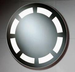 Kjøp Rundt speil med intergrerte lysstoffrør