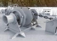 Anchor windlass winches