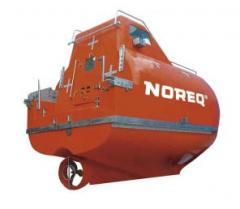 Free-fall lifeboats