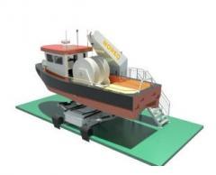 Workboat davits