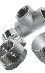 Rustfri Gjengefittings